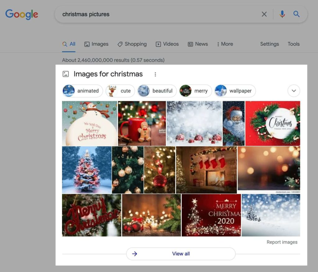 Image Pack in Google