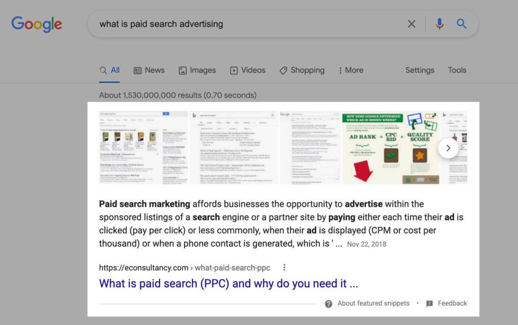Zero Click Searches in Google