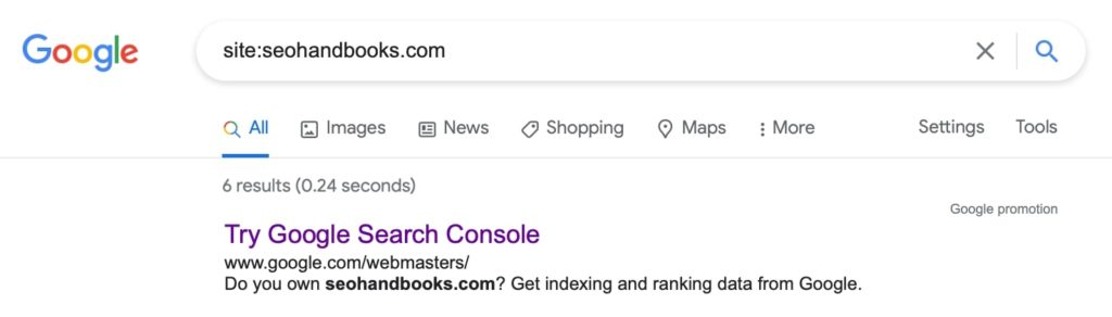 Site Operator to Check Indexed Pages in Google