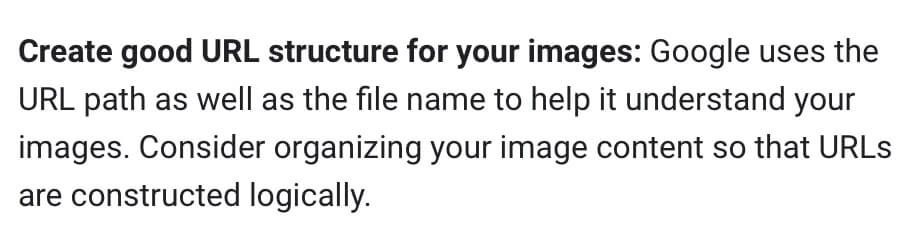 File structure for images