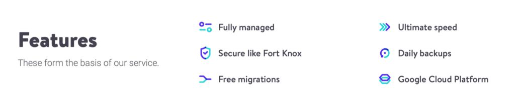 Kinsta WordPress Hosting Features